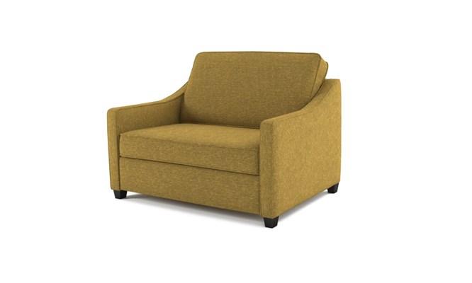 Lynton chair bed plain back - lime