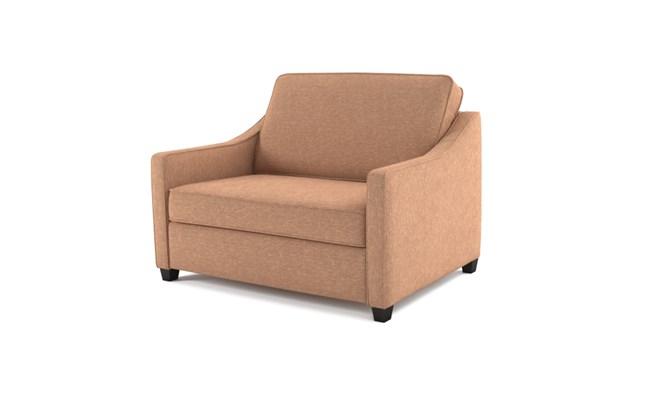 Lynton chair bed plain back - mink