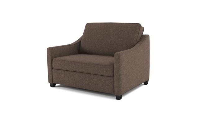 Lynton chair bed plain back - mocha