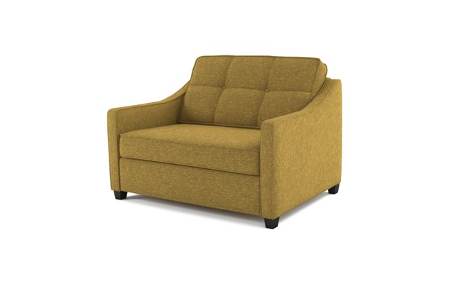 Lynton chair bed button back - abbeyville lime
