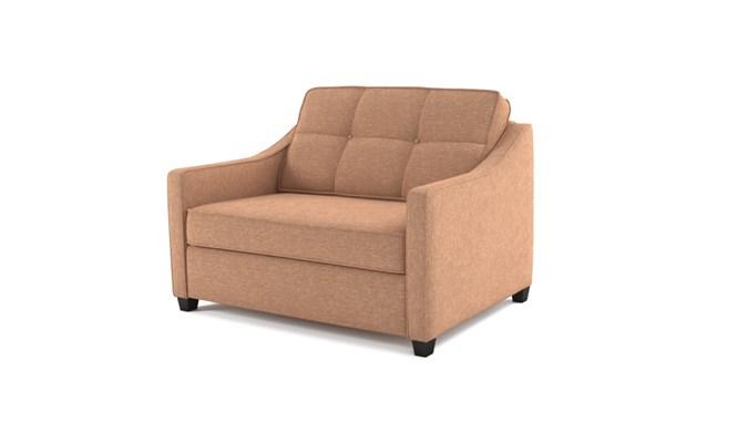 Lynton chair bed button back - abbeyville mink