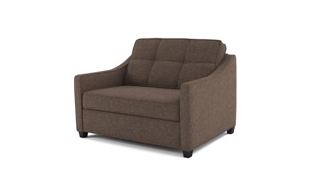 Lynton chair bed button back - abbeyville mocha