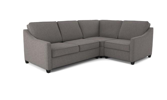 Lynton corner sofa plain back - charcoal