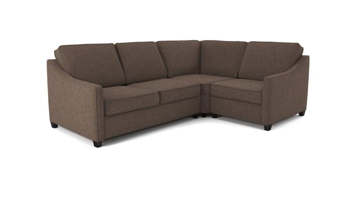 Lynton corner sofa plain back - abbeyville mocha