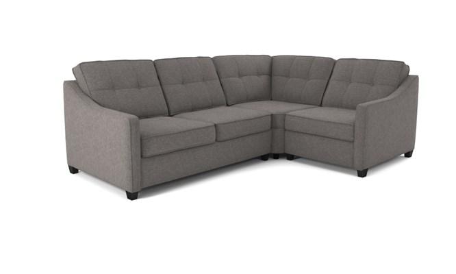Lynton corner sofa button back - abbeyville charcoal