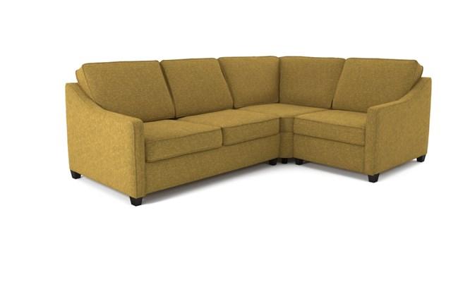 Lynton corner sofa plain back - lime