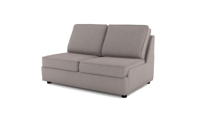 Rockmere 2 seater plain back - slate