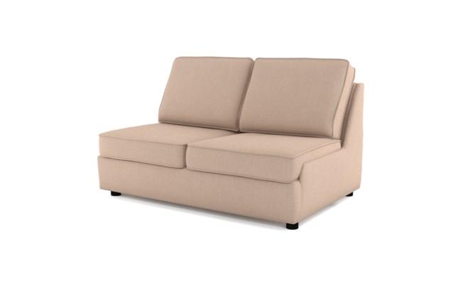 Rockmere 2 seater plain back - cream