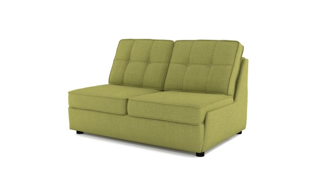Rockmere 2 seater button back - lime