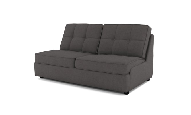 Wingfield 3 seater button back - charcoal