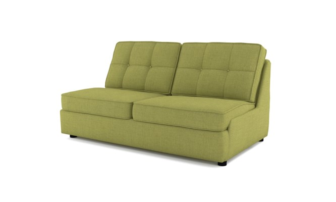 Rockmere 3 seater button back - lime