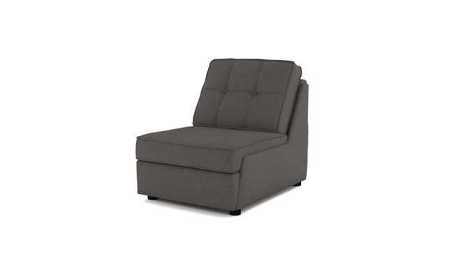 Rockmere arm chair button back - charcoal