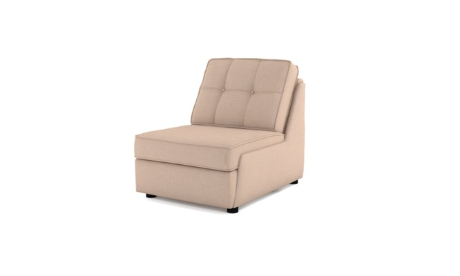 Rockmere arm chair button back - cream