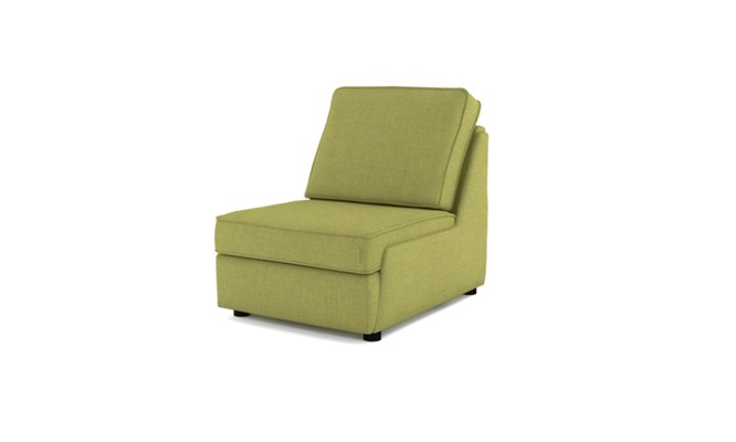 Rockmere arm chair plain back - lime