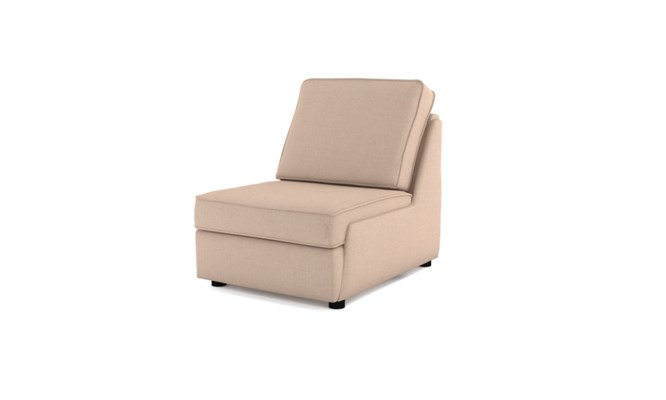 Rockmere arm chair plain back - cream