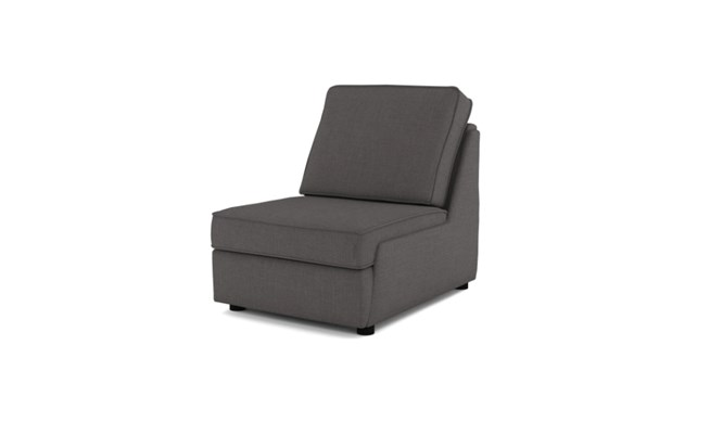 Rockmere arm chair plain back - charcoal