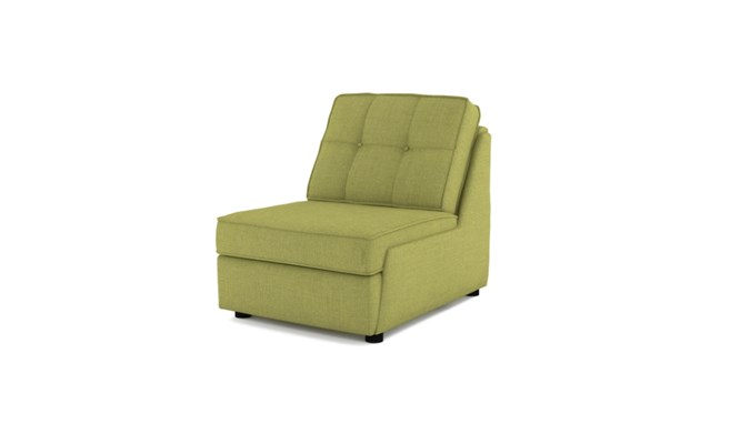 Rockmere arm chair button back - lime