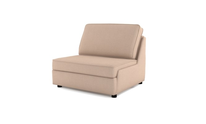 Rockmere chair bed plain back - cream
