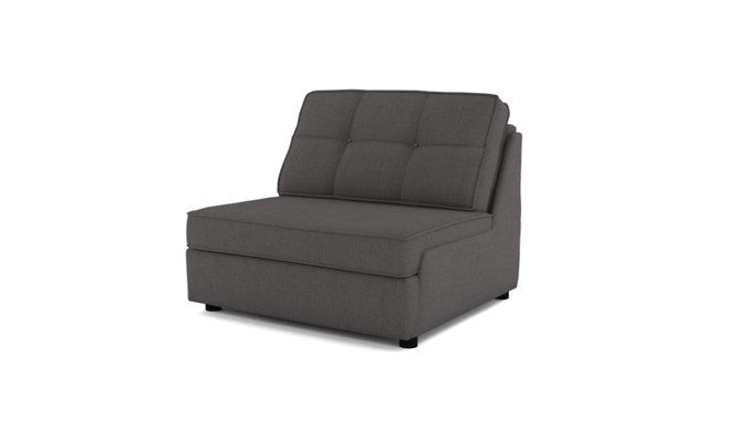 Rockmere chair bed button back - charcoal