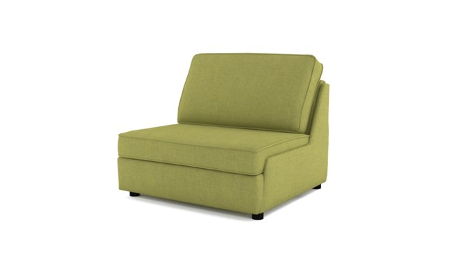 Rockmere chair bed plain back - lime