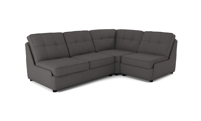 Rockmere corner sofa button back - charcoal