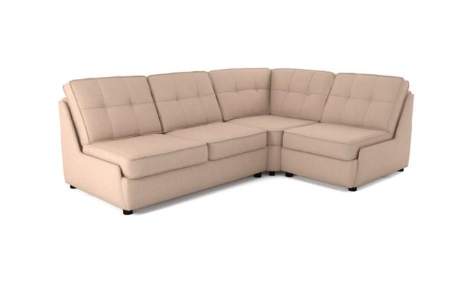 Rockmere corner sofa button back - cream