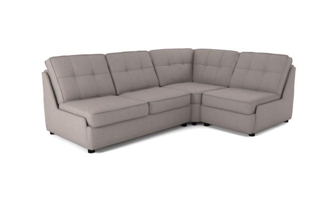 Rockmere corner sofa button back - slate