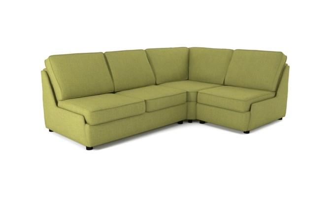 Rockmere corner sofa plain back - lime