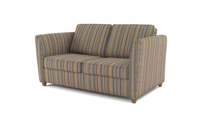 Russell 2 seater plain back - charcoal
