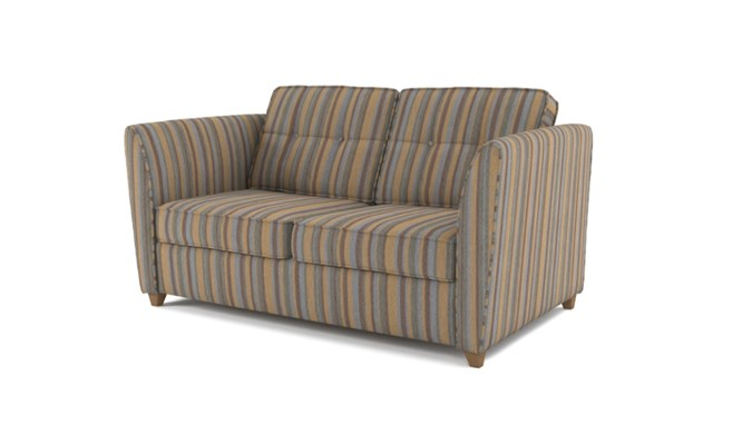Russell 2 seater button back - charcoal