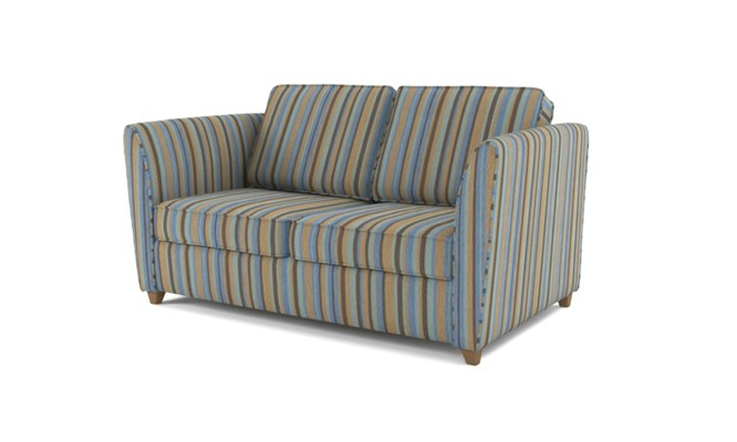 Russell 2 seater button back - duck egg