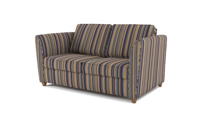 Russell 2 seater plain back - navy