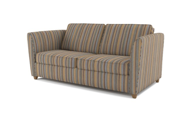 Russell 3 seater plain back - charcoal