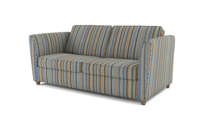 Russell 3 seater button back - duck egg