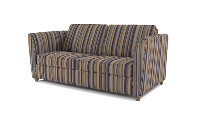 Russell 3 seater plain back - navy