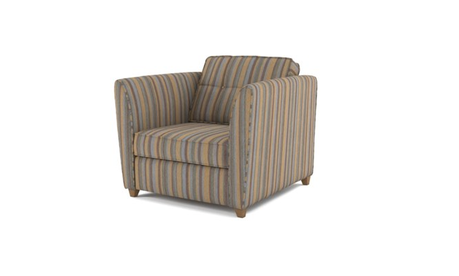 Russell arm chair button back - charcoal