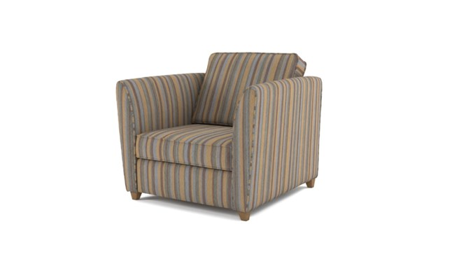 Russell arm chair plain back - charcoal