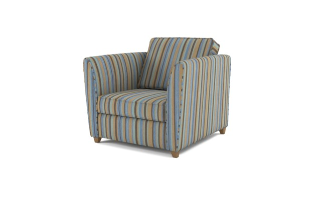 Russell arm chair plain back - duck egg