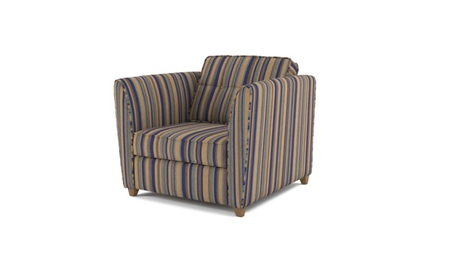Russell arm chair button back - navy