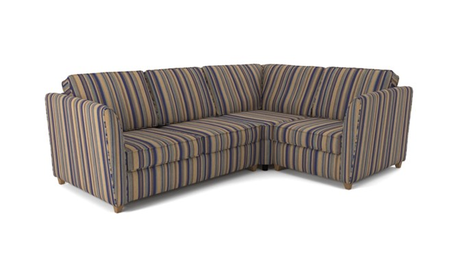 Russell corner sofa plain back - navy