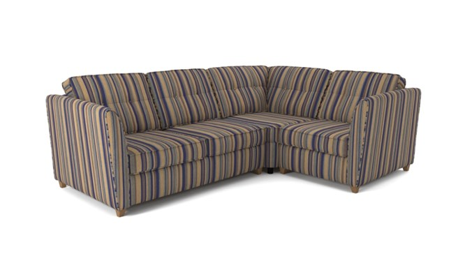 Russell corner sofa button back - navy