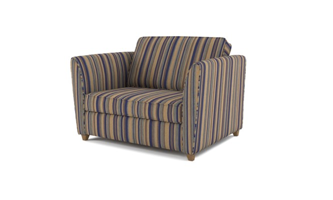 Russell chair bed plain back - navy