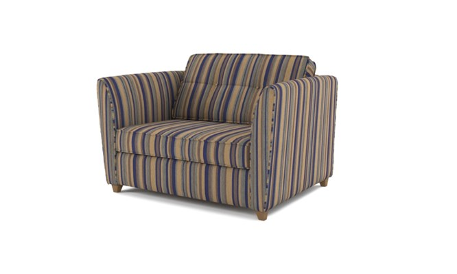 Russell chair bed button back - navy