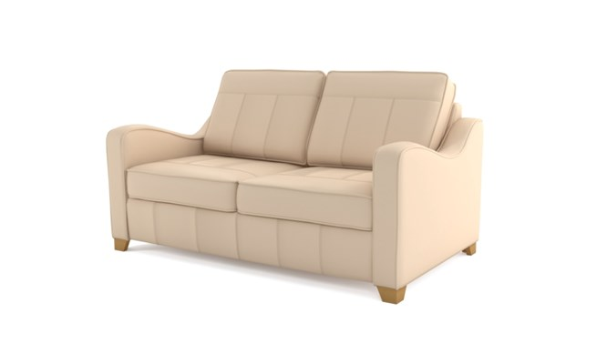 Wingfield 2 seater plain back - ivory