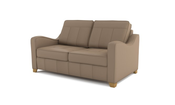 Wingfield 2 seater plain back - beige