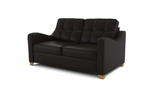 Wingfield 2 seater button back - black