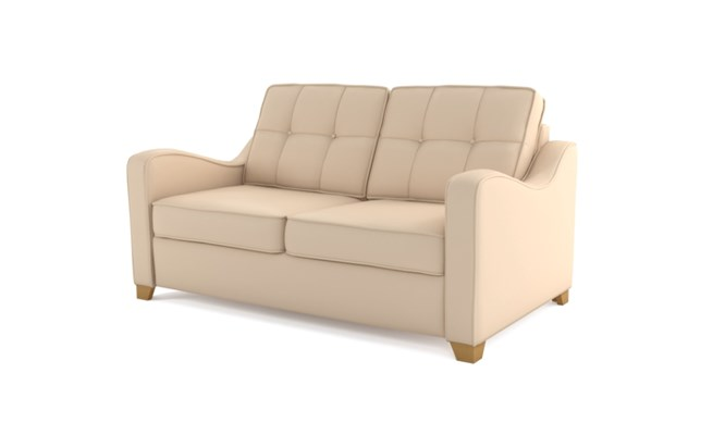 Wingfield 2 seater button back - ivory