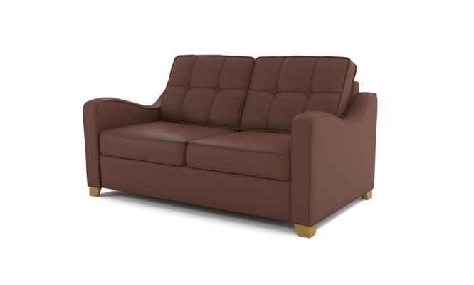 Wingfield 2 seater button back - brown