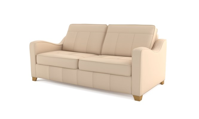 Wingfield 3 seater plain back - ivory