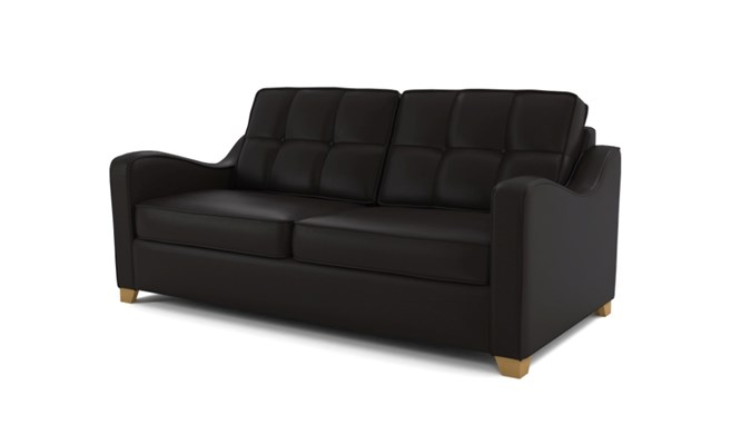 Wingfield 3 seater button back - black